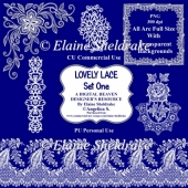 Lovely Lace Set One - Designer Resource For CU & PU