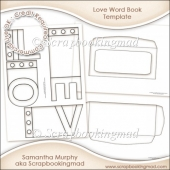 Love Word Book Template