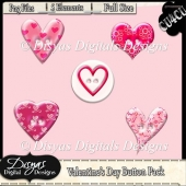VALENTINE BUTTON PACK CU4CU - FULL SIZE