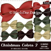 Christmas Holiday Package 2 Digital Bows by Marlo