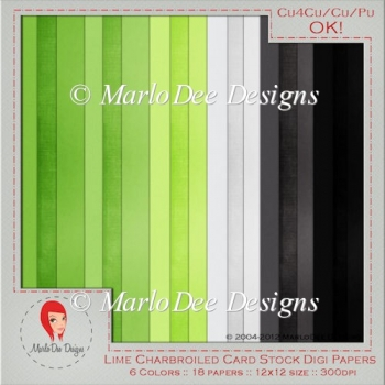 Lime Charbroiled Card Stock Digital Papers