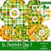St. Patrick's Day Colors 2 - Flower Graphics 3