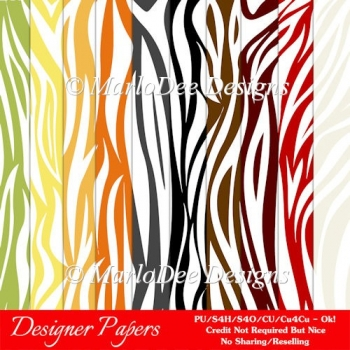 Everyday Colors Animal Print Pattern A4 Backgrounds - set 1