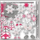 Christmas snowflakes 2 FS by GJ