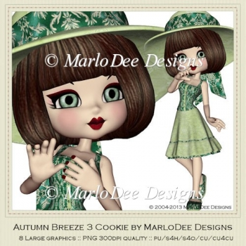 Autumn Breeze 3 Cookie Poser Graphics by MarloDee Designs