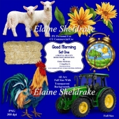 Good Morning On The Farm - Set One - Designer Resource CU/PU