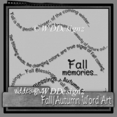 Fall/Autumn WordArt (full)