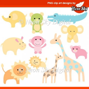 Baby Zoo Animal Clipart