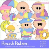 Beach Babies - Summer Season Clip Art Collection