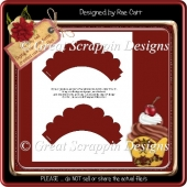 Scalloped Top Cupcake Wrap PNG*PDF
