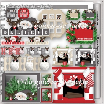 CU Santa and Reindeer 2 FS by GJ