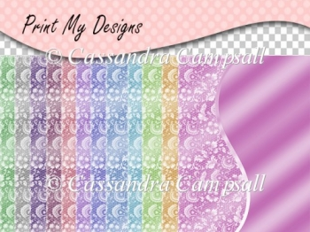 A5 Lace Card Fronts CU4CU OK