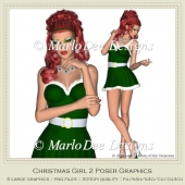 Christmas Girl 2 Sexy Poser Graphics