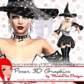 Witch Halloween Design 3 Poser Graphics