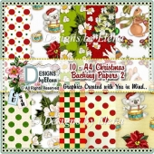 10 - A4 Christmas Backing Papers 2