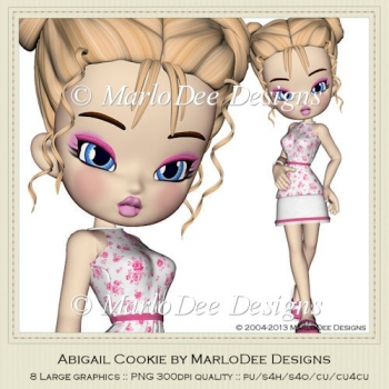 Abigail Cookie Poser Graphics by MarloDee Designs