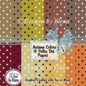 Autumn Colors Polka Dot Papers