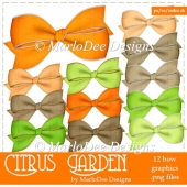 Citrus Garden Digital Bows Package