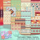 * Textured Tribal papers *