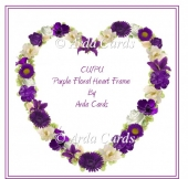 Purple Floral Heart Frame