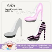 Layered High Heeled Shoes Template PSD & png