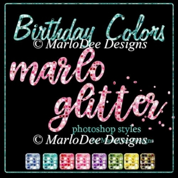 Birthday Colors Marlo Glitter Photoshop Styles