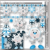 Christmas snowflakes 3 FS by GJ