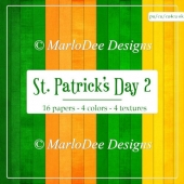 St. Patrick's Day Colors 2 - Cardstock Texture Backgrounds