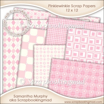Pinkiewinkie Scrapbook Papers 12 x 12