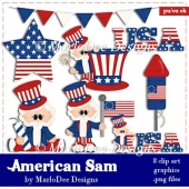 American Sam - July 4th Clip Art Collection
