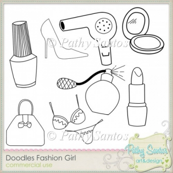 Doodles Fashion Girl Pathy Santos