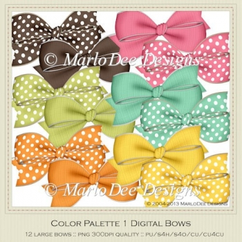 Color Palette 1 Digital Bows Package