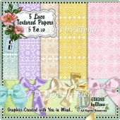 Lace Textured Papers with Matching Bows