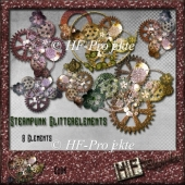 CU Steampunk Glitter Elements