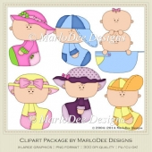 Baby Clip Art Graphics 2 by MarloDee Designs