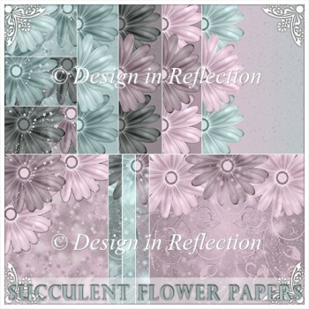 Succulent Flowers Papers