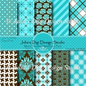 Mint Chocolate Digital Paper Pack