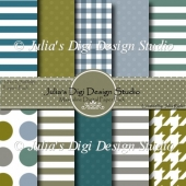 Masculine Digital Paper Pack