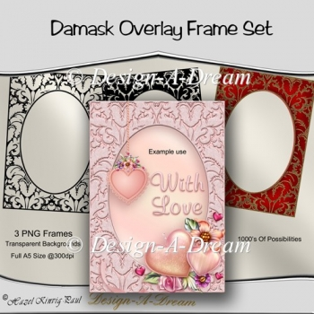 Damask Overlay Frame Set