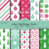 A Modern Christmas Digital Paper Pack