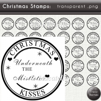 Christmas Sentiment Stamps