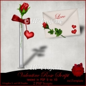 CU Valentine Rose and Letter Script
