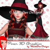 Magical Witch Halloween Poser Graphics 1