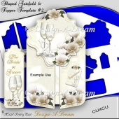 Shaped Gate-fold & Topper Template #2 + BONUS Bookmark