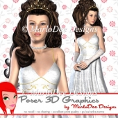 Pretty Princess Girl Woman Poser Graphics