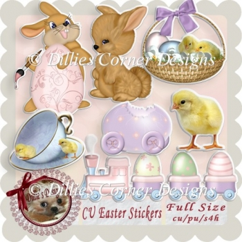 CU Easter Stickers