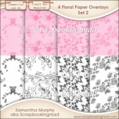 Floral Paper Overlays - Set 2 - PNG FILES - CU OK