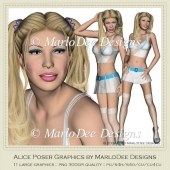 Sexy Alice Poser Graphics by MarloDee Designs