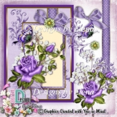 Hint of Lilac Card Layered Template