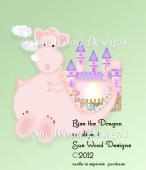 Elise the Pink Dragon clipart